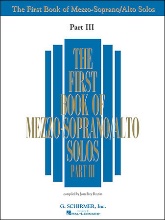 First Book of Mezzo-Soprano/Alto Solos Vol. 3