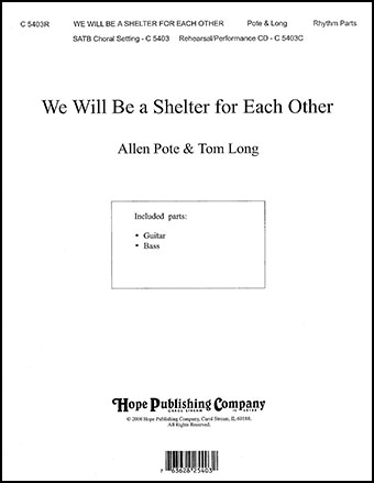 We Will Be a Shelter for Each Other Cover