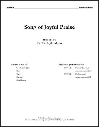Song of Joyful Praise Cover