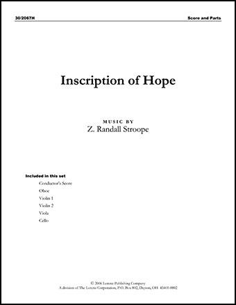 Inscription of Hope Cover