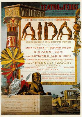 Aida Replica Ricordi Opera Poster