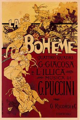 La Boheme Replica Ricordi Opera Poster