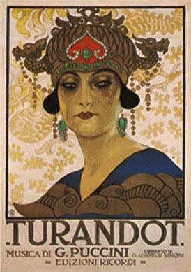 Turandot Replica Ricordi Opera Poster