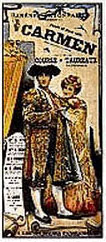 Carmen Replica Ricordi Opera Poster