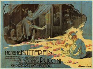 Madama Butterfly Replica Ricordi Opera Poster