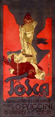 Tosca Replica Ricordi Opera Poster