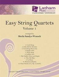 Easy String Quartets Volume 1 string sheet music cover