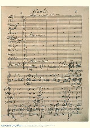 Antonin Dvorak Music Manuscrip Poster