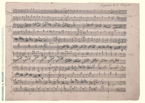 Wolfgang Amadeus Mozart Music Manuscript