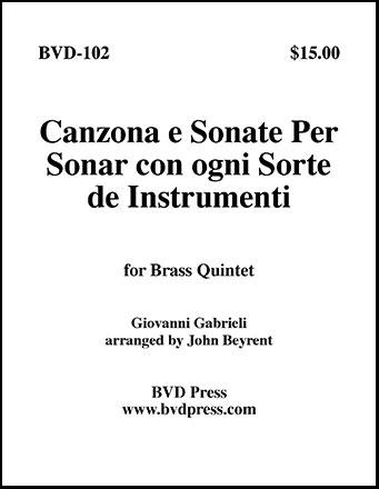 Canzona E Sonate per Sonare Con Ogni Instumenti