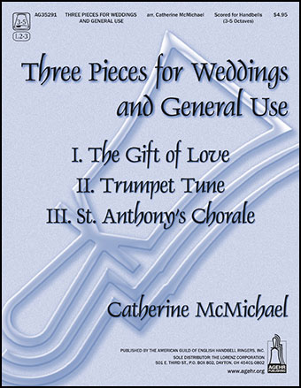 Three Pieces for Weddings and General Use  handbell sheet music cover