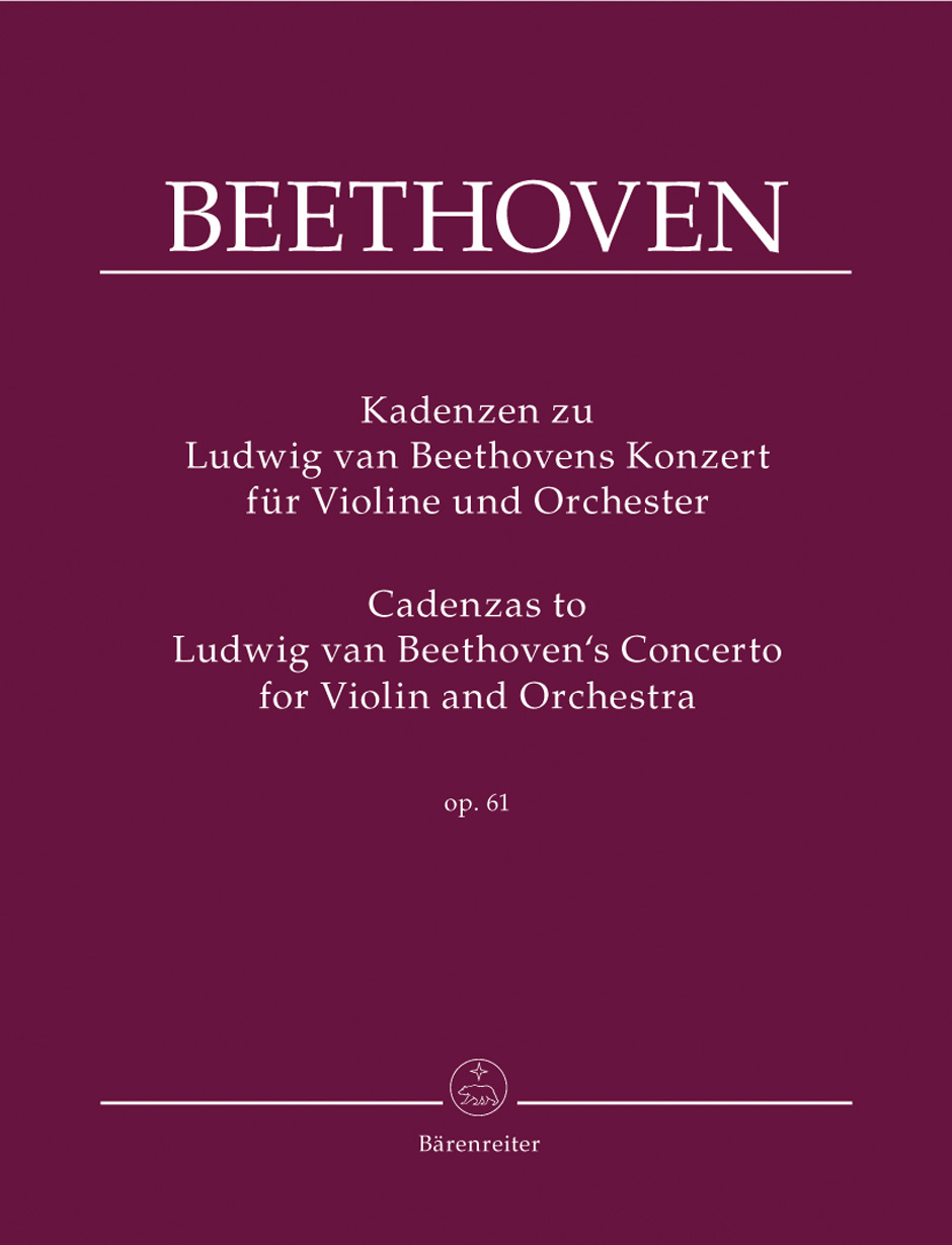 Cadenzas to Beethoven's Concerto in D Major, Op. 61