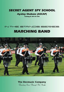 Secret Agent Spy School marching band show cover