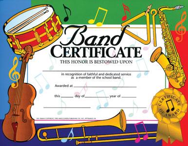 Music Achievement Certificate