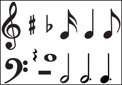 Individual Music Symbols