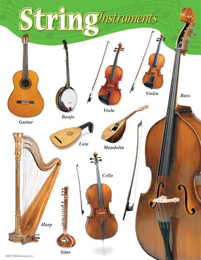 String Instruments Learning Chart Posters Jw Pepper Sheet Music