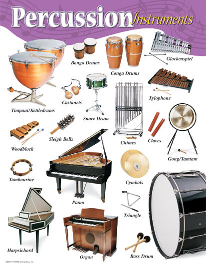 Percussion Instruments Learning Chart
