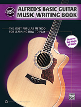 Alfred Basic Guitar Music Writing Book
