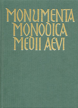 Monumenta Monodica Medii Aevi, Subsidia Vol. vi