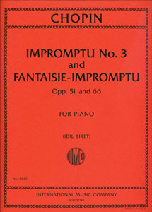 Impromptu No. 3 and Fantasie-Impromptu, Opp. 51 & 66