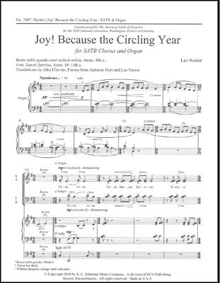 Joy Because the Circling Year