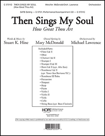 Then Sings My Soul Cover