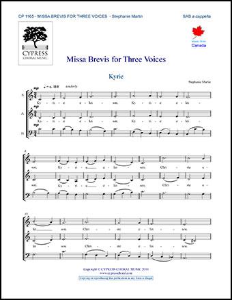 Missa Brevis for Three Voices
