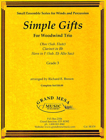 Simple Gifts for Woodwind Trio