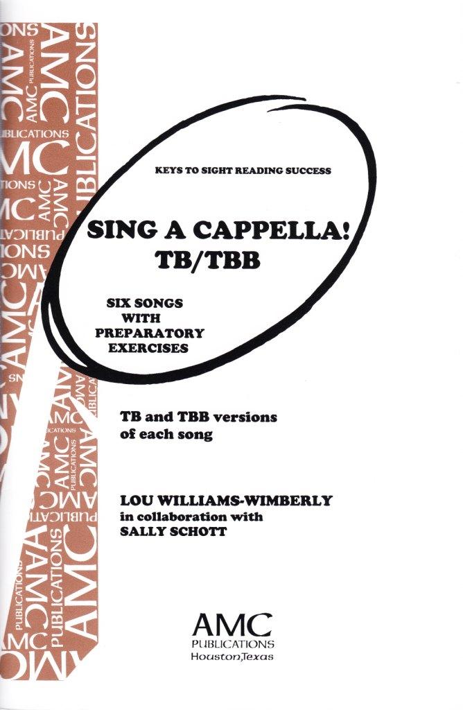 Keys to Sight Reading Success : Sing A Cappella