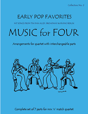 Music for Four Early Pop Favorites  Cover