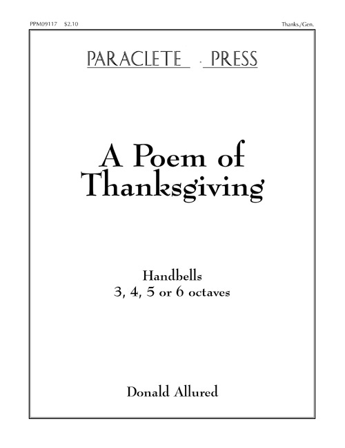 Poem of Thanksgiving