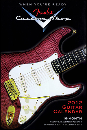 2012 Fender Custom Shop Guitar 16 Month Weekly Planner