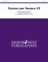 Canzon per Sonare No. 2