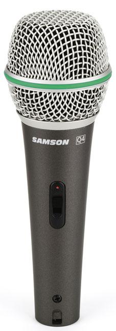Samson Q4 Cardioid Dynamic Microphone