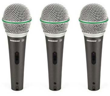 Samson Q6 Dynamic Microphone 3 Pack