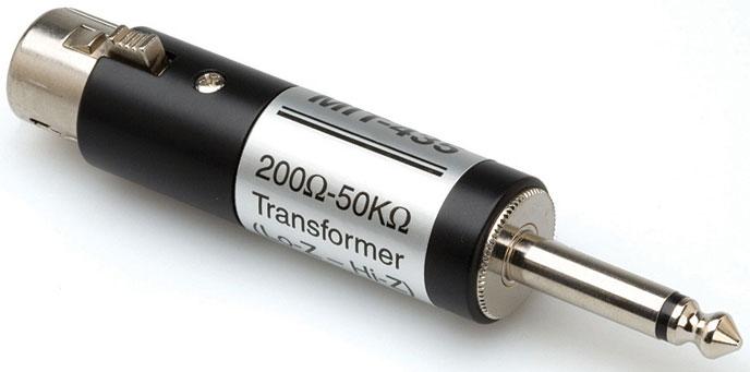 Hosa Mic Z Transformer XLR3f 1/4