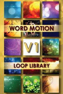 Word Motion Loop Library No. 1