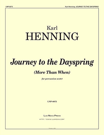 Journey to the Dayspring
