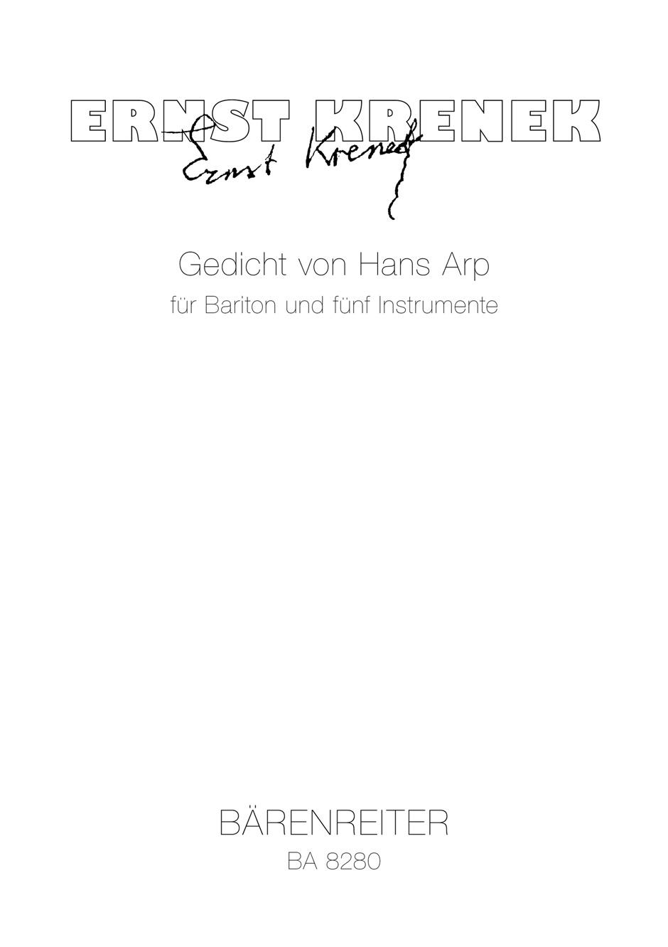 Poem by Hans Arp