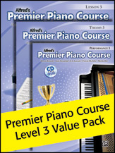 Alfred's Premier Piano Course Level 3 Value Pack