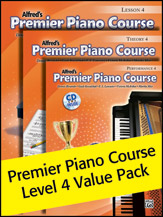 Alfred's Premier Piano Course Level 4 Value Pack
