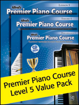 Alfred's Premier Piano Course Level 5 Value Pack