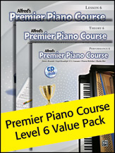 Alfred's Premier Piano Course Level 6 Value Pack