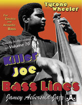 Bass Lines from the Volume 70 Play-Along: Killer Joe