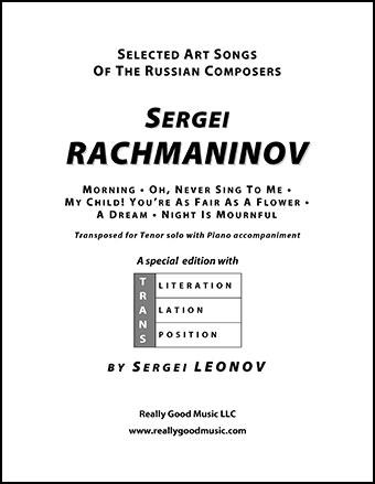 Selected Rachmaninov Songs for Tenor (Tenor | J W  Pepper