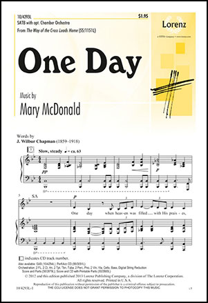 One Day (SATB ) by Mary McDonald| J W  Pepper Sheet Music