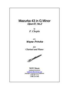 Mazurka 43 in G Minor, Op. 67 No. 2