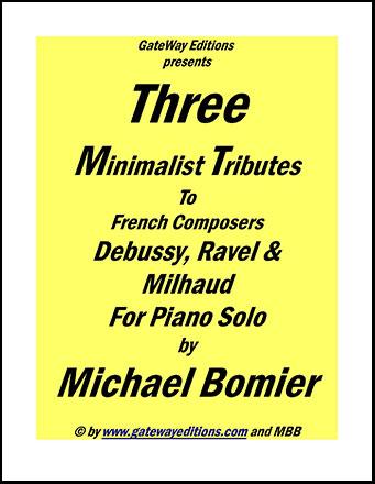 3 Minimalist Tributes for Piano Solo