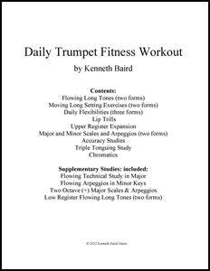 daily trumpet fitness workout trumpet book j w pepper sheet music