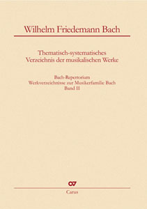 Bach Repertorium, Vol. 2 - Wilhelm Friedemann Bach Cover